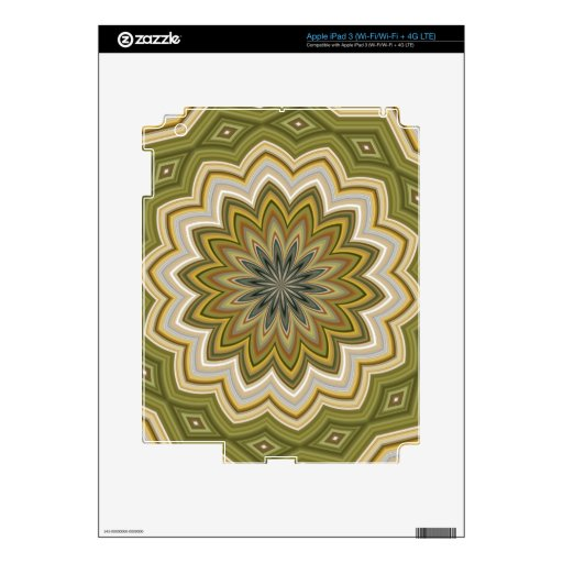 Abstract Flower Skins For iPad 3