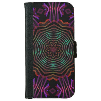 abstract flower spin iPhone6 or galaxy wallet case