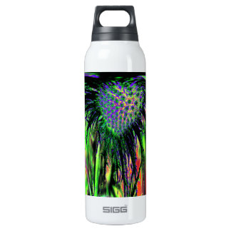 Abstract Flower Thermos Bottle