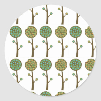 Abstract Flower Trees Sticker
