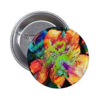 Abstract Flower (U) 2 Inch Round Button