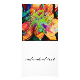 Abstract Flower (U) Card