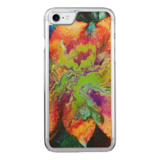 Abstract Flower (U) Carved iPhone 7 Case