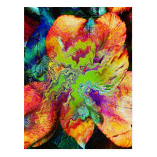 Abstract Flower (U) Postcard