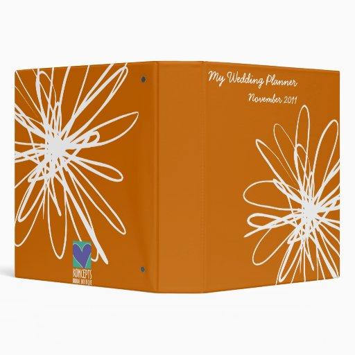 Abstract Flower Wedding Planner Binder