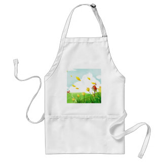 Abstract Flower Windy Fields Adult Apron