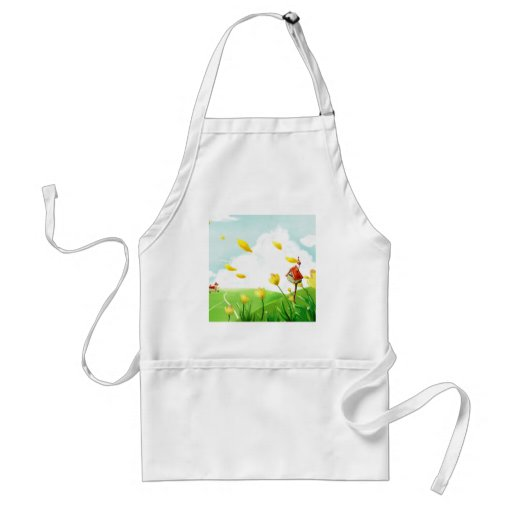 Abstract Flower Windy Fields Apron