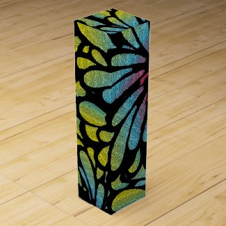 Abstract Flower Wine Bottle Boxes