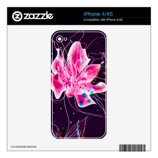 Abstract Flower  Zazzle Skin Skins For iPhone 4S