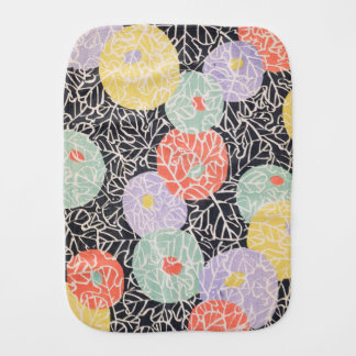Abstract Flower Burp Cloth
