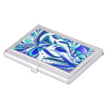 Abstract Flowers 3 Business Card Holders