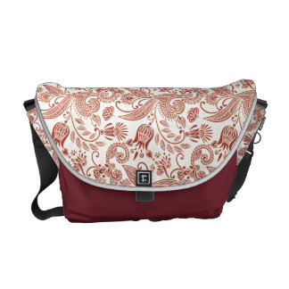 Abstract Flowers #3B Courier Bag