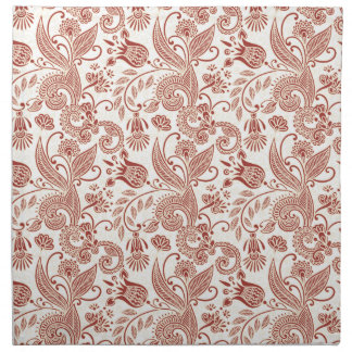 Abstract Flowers #4B Printed Napkins