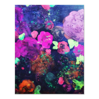 Abstract Flowers Blank Card