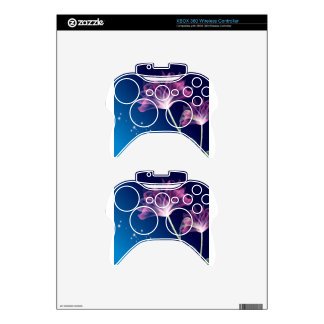 Abstract Flowers Blue Romace Xbox 360 Controller Decal