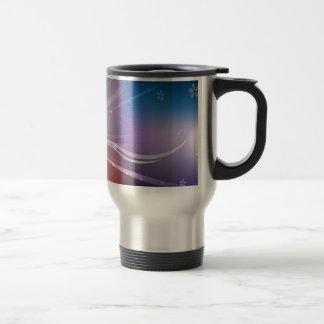 Abstract Flowers Blue Shine Coffee Mugs