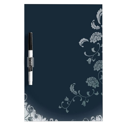 Abstract Flowers Blue Sun Dry-Erase Boards