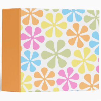 Abstract Flowers Bright Color Mix Binder