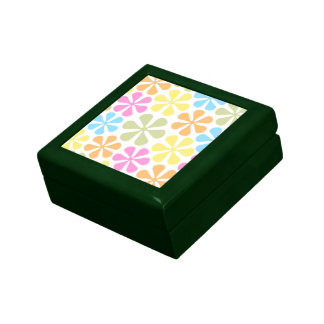 Abstract Flowers Bright Color Mix Keepsake Box
