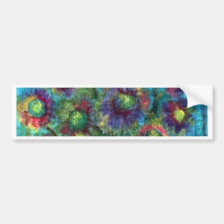 Abstract Flowers Bumper Sticker