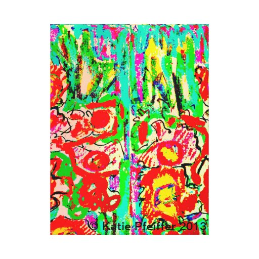 Abstract Flowers by Katie Pfeiffer Gallery Wrap Canvas