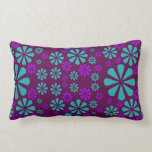 Abstract Flowers custom throw pillow