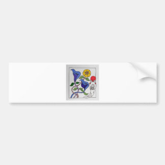 Abstract Flowers in Flight Bumper Sticker