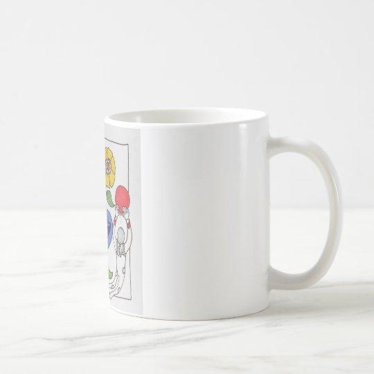 Abstract Flowers in Flight Coffee Mug