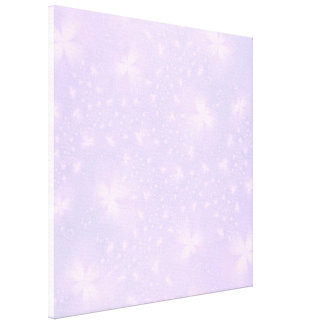 Abstract Flowers in Lilac and Pink Canvas Print