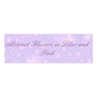Abstract Flowers in Lilac and Pink Card Double-Sided Mini Business Cards (Pack Of 20)
