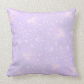 Abstract Flowers in Lilac and Pink Throw Pillow