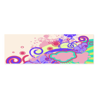 abstract flowers in the sky notebook-01 Double-Sided mini business cards (Pack of 20)