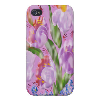 Abstract flowers IPhone 4 case cover Speck