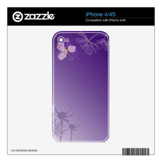 Abstract Flowers iPhone 4S Skin