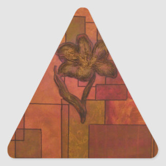 abstract flowers.jpg triangle sticker