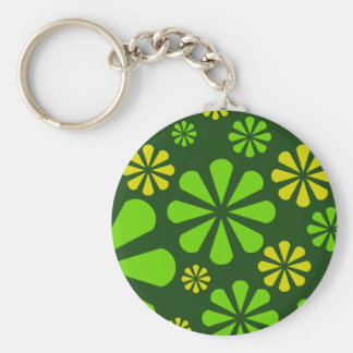 Abstract Flowers key chain