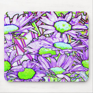 Abstract Flowers Mousepad