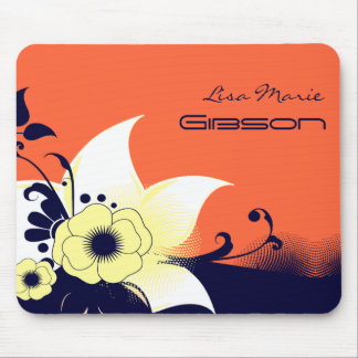 Abstract Flowers Mouse Pad