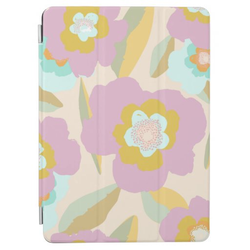 Abstract Flowers | Pastel Lilac Floral Pattern iPad Air Cover