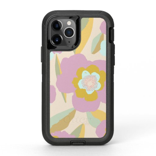 Abstract Flowers | Pastel Lilac Floral Pattern OtterBox Defender iPhone 11 Pro Case