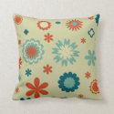 Abstract Flowers Pillows