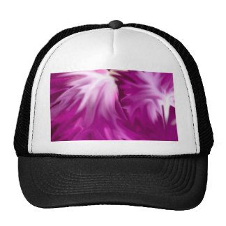 abstract flowers pink hats