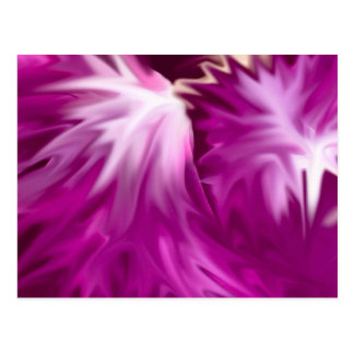abstract flowers pink postcards