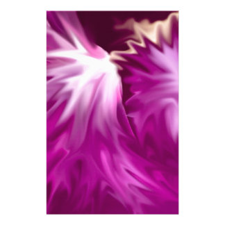 abstract flowers pink stationery paper