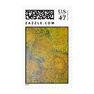 Abstract Flowers Postage