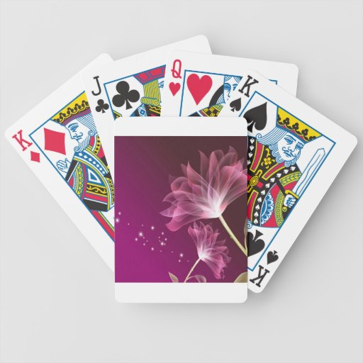Abstract Flowers Purple Friendship Deck Of Cards