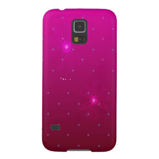 Abstract Flowers Purple Relax Galaxy S5 Cover