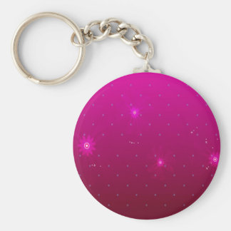 Abstract Flowers Purple Relax Keychain