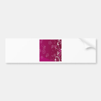 Abstract Flowers Purple Simple Abstract Bumper Sticker