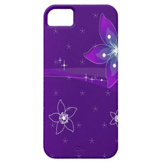 Abstract Flowers Purple Various iPhone 5 Cases